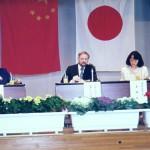 岐阜市池田高校の英独中日国際討論会にて講演